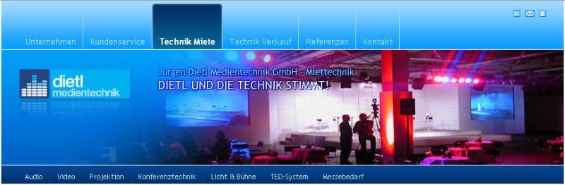 Besonders schön: Der neue, moderne Webauftritt der Jürgen Dietl Medientechnik GmbH