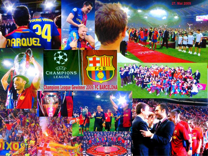 Verdient gewonnen: Der FC Barcelona gewinnt den Pokal der UEFA Champions League. Der Club konnte sich mit einem klaren 2:0 Erfolg gegen Manchester United durchsetzten.