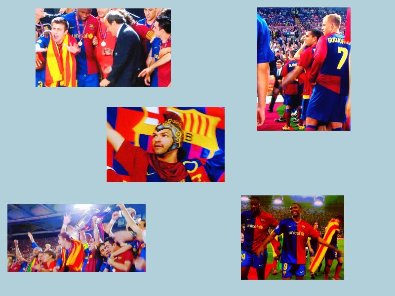 Barcelona feiert: Rund 100.000 Fans feierten den Sieg ihres Clubs. Leider kam es dabei wieder einmal zu heftigen Ausschreitungen.