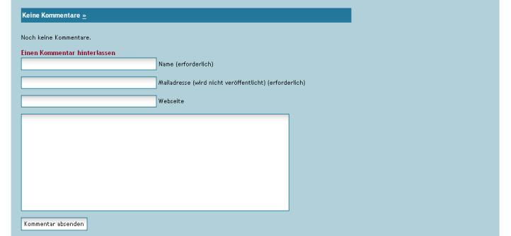 Nutzen Sie das Angebot von Startseite24.eu: Hinterlassen Sie Ihre Kommentare zu aktuellen Beiträgen und News