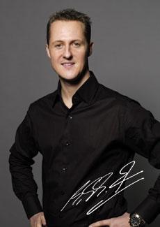 Michael Schumacher Autogrammkarte